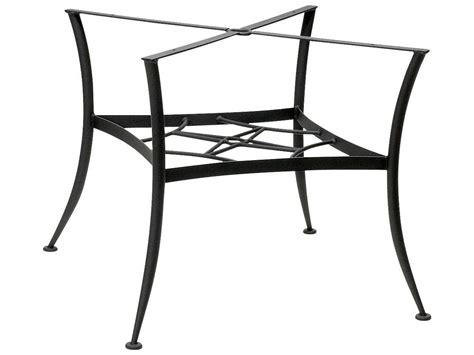 woodard universal wrought iron dining table base only 885400