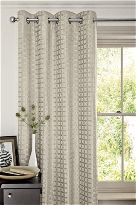 next online curtains buy geometric chenille silver eyelet curtains from the