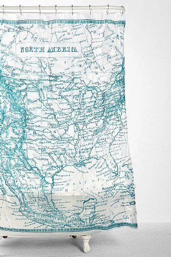 kikkerland shower curtain kikkerland map shower curtain north america creative