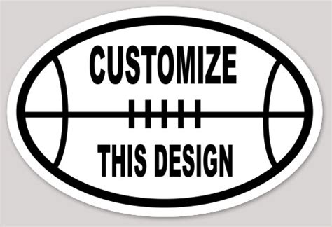 Oval Bumper Sticker Template by Oval Stickers Makestickers