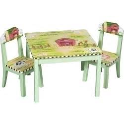 guidecraft farm house table and chair set by guidecraft