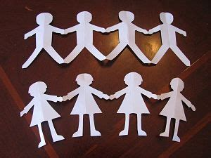 Paper Dolls Chain - martin luther king jr day paper doll craft crafts