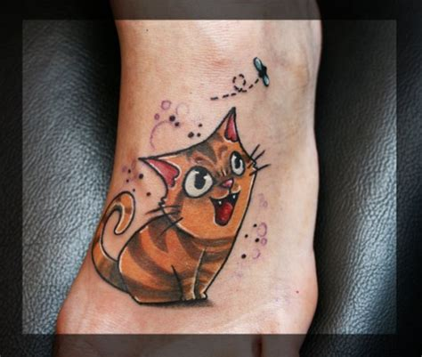 cartoon kitten tattoo cute cartoon tattoos tattoos facebook