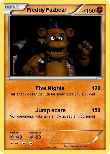 Freddy S Gift Card - five nights at freddys cards all language card english pokemon pinterest