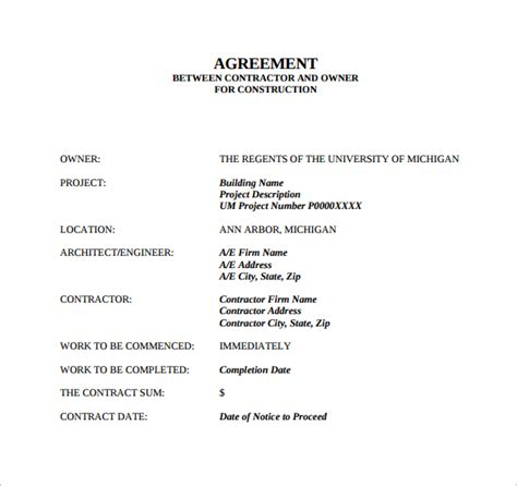 Contract Agreement Letter Pdf Sle Contract Agreement 7 Free Documents In Pdf Word