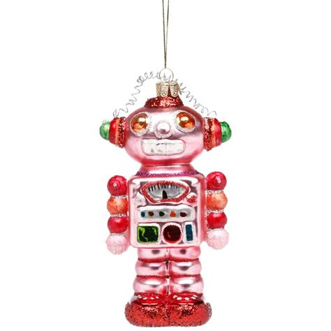 robot ornaments glass robot ornament for sf other