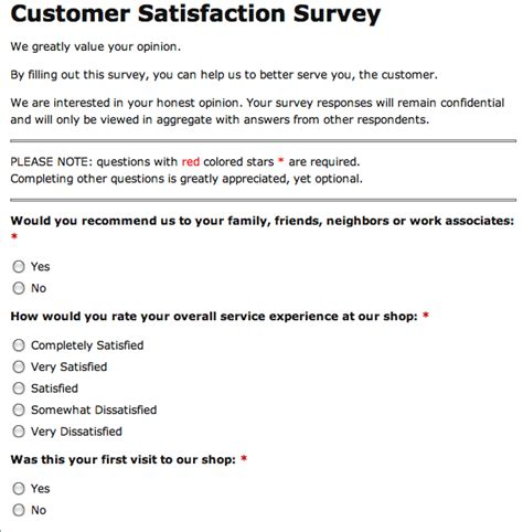 customer service survey template why your auto repair shop or tire store needs customer