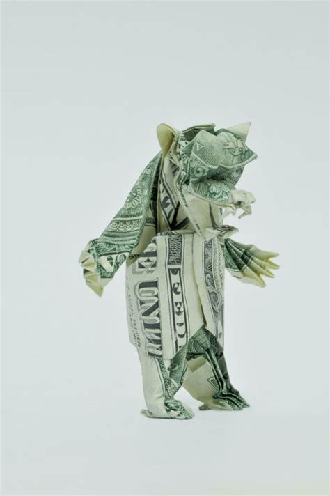 Won Park Origami - beautiful origami made of dollars by won park noupe
