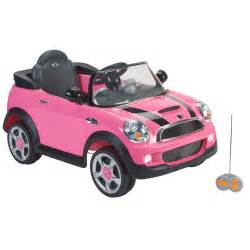 Childrens Pink Mini Cooper Atv 6v Ride On