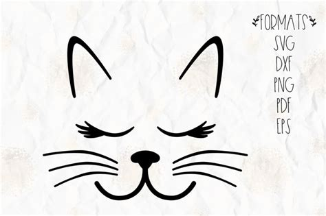 cutting whiskers cat lashes whiskers ears cut file in svg dxf png pdf eps formats for use