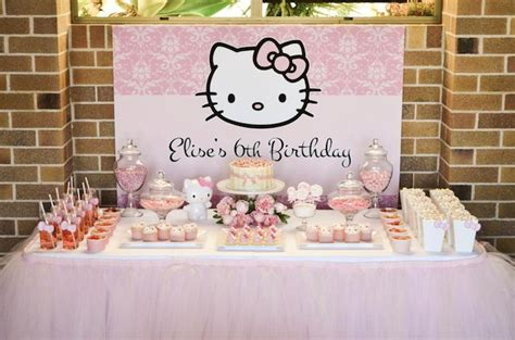 hello kitty themed birthday party ideas kara s party ideas pastel pink hello kitty party ideas