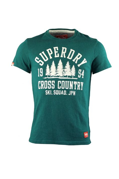 Country T Shirts Superdry Cross Country Pioneers T Shirt Forest
