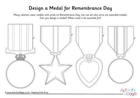Design A Medal For Remembrance Day Primary Art Pinterest Medal Design Template