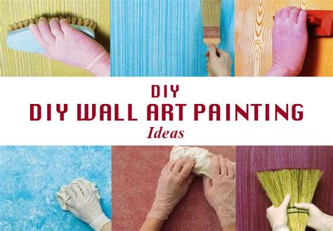 how to do wall painting designs yourself diy wall art painting ideas diy make it