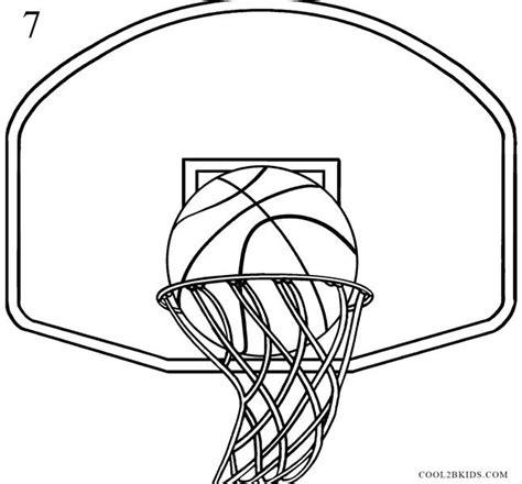 basketball goal coloring page basketball hoop coloring page how to draw a basketball