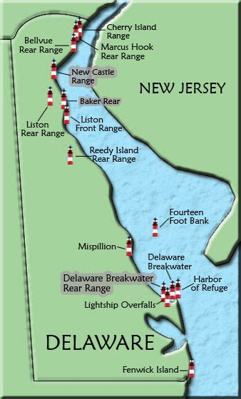 map of maryland lighthouses delaware lighthouse map delaware