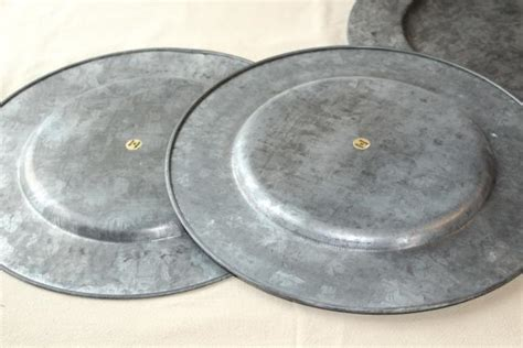 rustic charger plates vintage galvanized zinc metal charger plates rustic