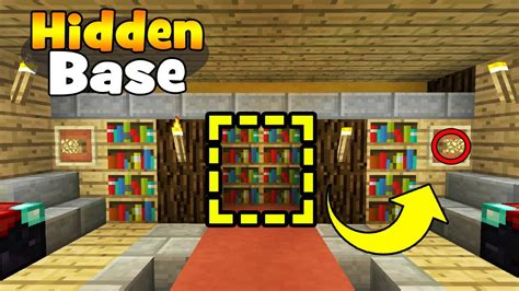 minecraft how to build a library youtube minecraft tutorial how to make a secret library base