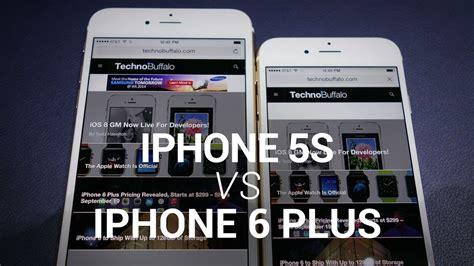iphone 6 plus vs iphone 5s show floor comparison
