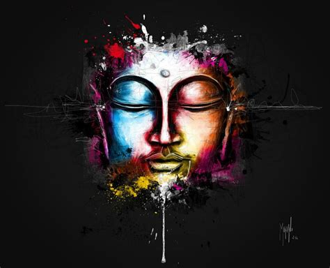 Buddha Decor For The Home murciano digital painting of the buddha listening to