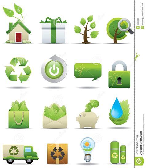Energy Saving House Plans Environment Protection Icon Set Premium Series Stock