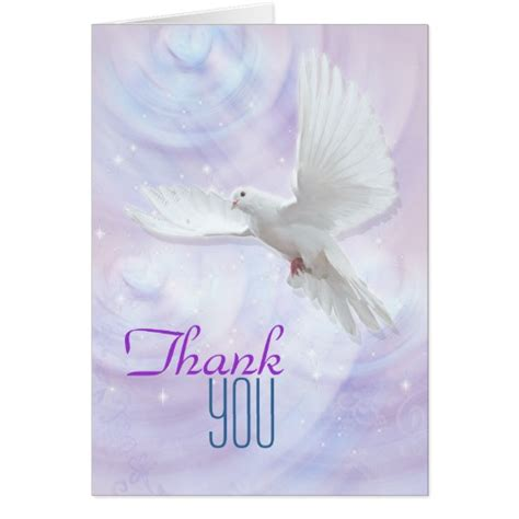 religious thank you card template religious confirmation dove thank you card zazzle au
