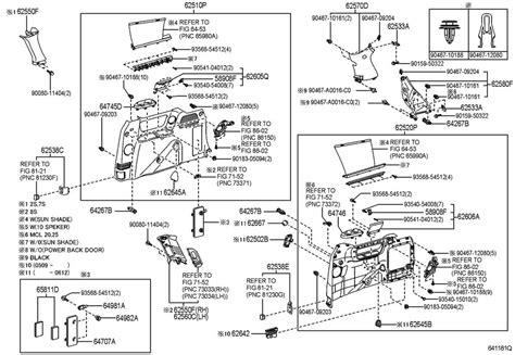 toyota sienna rear door parts diagram view toyota free engine image for user manual download 2004 2005 toyota sienna right rear window trim stone grey new 6255008090b0 factory oem parts