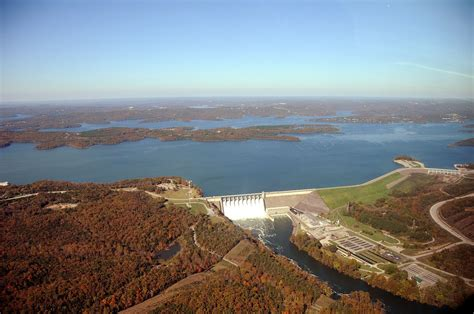 table rock lake state file aerial photo of table rock dam lake and white river