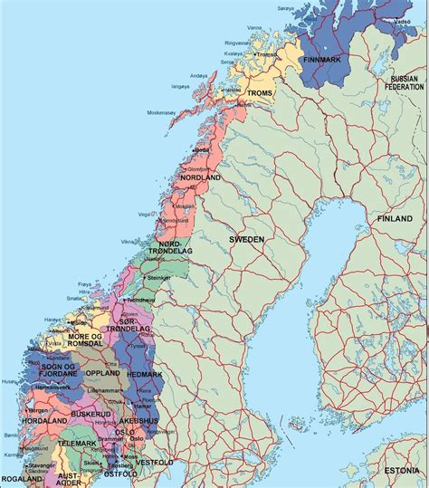 political map of scandinavia political map illustrator vector eps maps eps