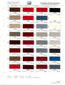 paint chips 1990 gm buick