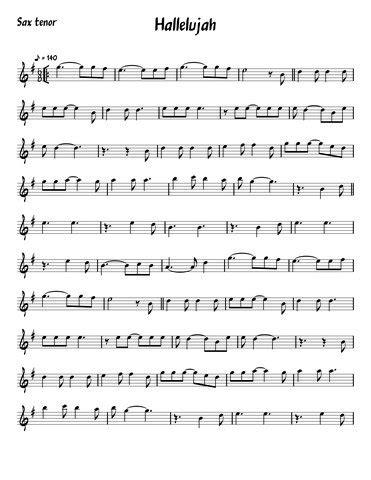 Partitura Aleluia Sax Tenor - Semibreve Online Partituras