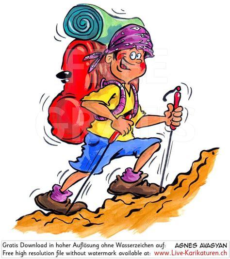 wandlen zum lesen wandern sommer ferien rucksack agnes live karikaturen