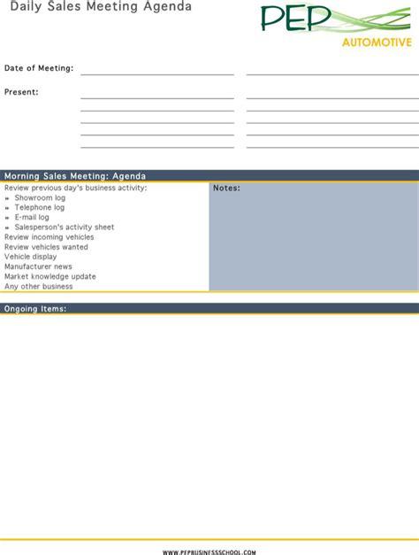 sales meeting agenda template download free premium