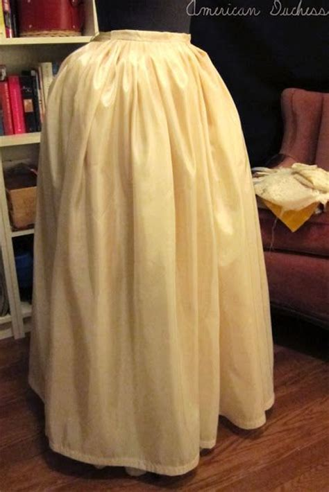 pattern for net petticoat american duchess how to make an 18th century petticoat