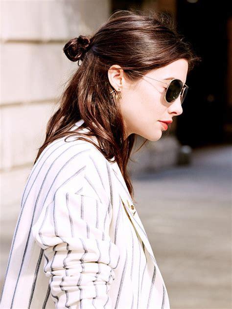 cute half bun hairstyles 17 trendy half bun hairstyles for 2016 pretty designs