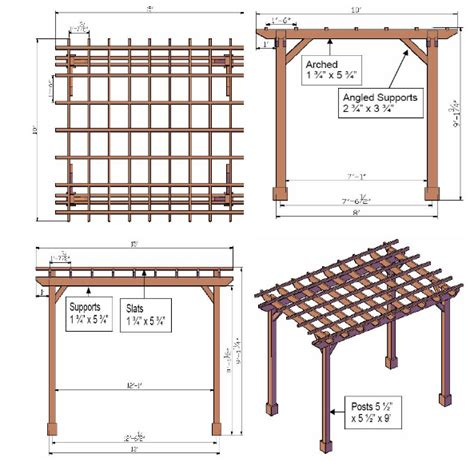 Drawing Your Own Pergola Plans Pergola Plans Pergolas Large Pergola Plans
