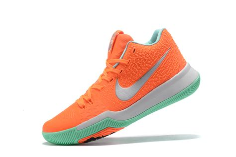 silver basketball shoes nike kyrie 3 orange green silver basketball shoes