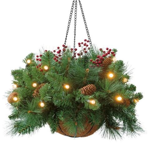 what can i use to hang christmas lights on brick holiday christmas hanging baskets with lights for indoor