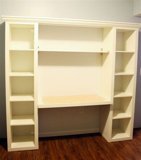How To Build Your Own Quot Built In Quot Desk From Ikea Billy Desk And Bookshelves