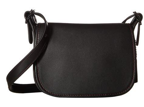 Coach Leather Saddle Black Coach Glovetanned Leather Saddle Bag 18 In Black Lyst