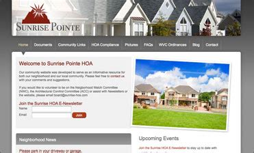 Hoa Web Solutions Home Owners Association Website Design Hoa Directory Template