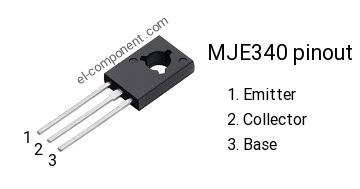 transistor mje340 mje340 n p n transistor complementary pnp replacement pinout pin configuration substitute