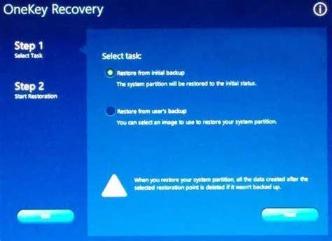 factory reset lenovo laptop  onekey recovery