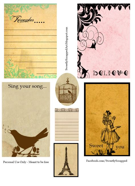 printable vintage postcards free sweetly scrapped printable journaling cards free and