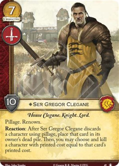 ser gregor clegane the king's peace a game of thrones
