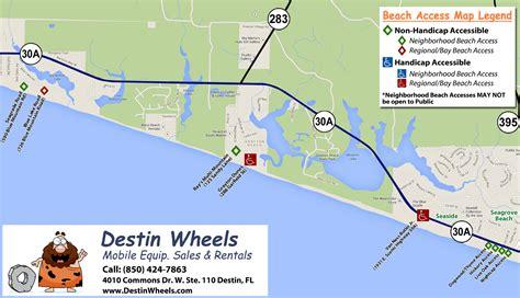 30a map 30a destin access destin wheels rentals in