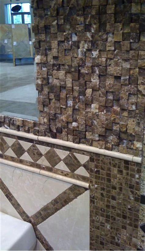 mosaic emperador marble at tile of