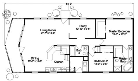 tiny house floor plan with two bedrooms, complete with