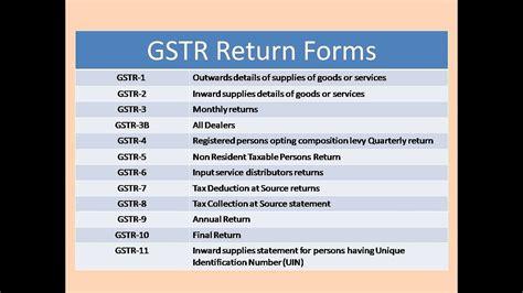 gstr return form gstr 1 2 3 4 5 6 7 8 9 10 11 part 1 youtube