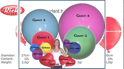 Balloon sizes youtube